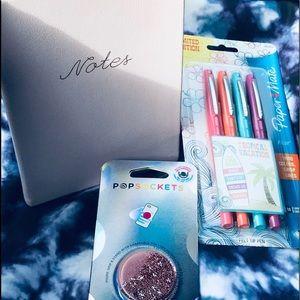 Journal,PopSocket & Paper Mate Flair Bundle